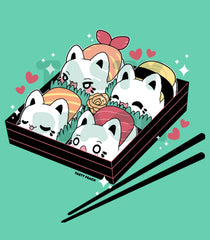 Sushi Meowchi Bento Tee - Fitted