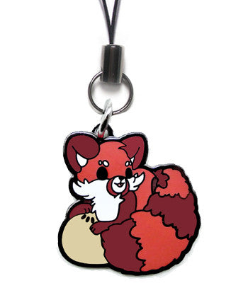 Adzuki Red Panda Metal Charm
