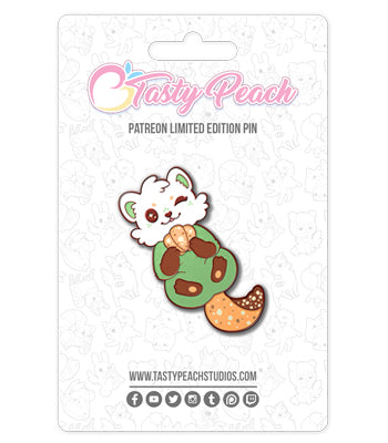Pistachio Biscotter Enamel Pin - August 2020 Pin Club