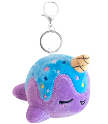 Mini Nomwhal Keychain Plush - Blue Moon