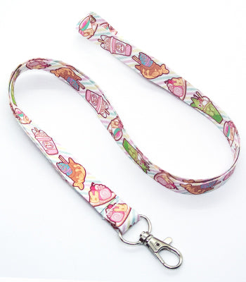 Peachy Cafe Lanyard