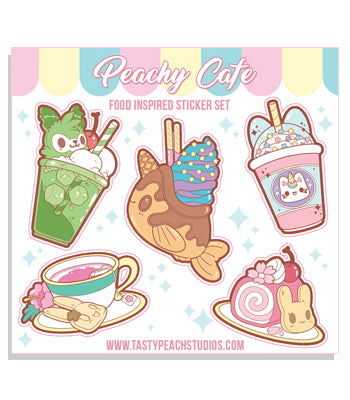 Peachy Cafe Sticker Sheet