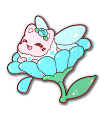 """If I Fits, I Sits"" Meowchi Faerie - January 2021 Pin Club"