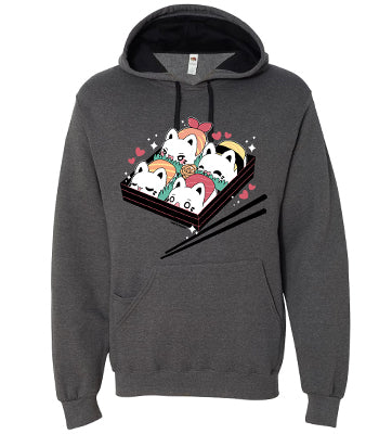 Sushi Meowchi Bento Full Length Hoodie W/ Pocket