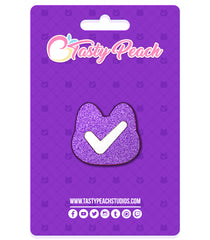 TPS Partner Kitty Checkmark Enamel Pin