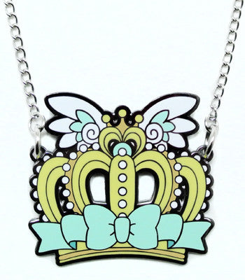 Mint Crown Metal Necklace