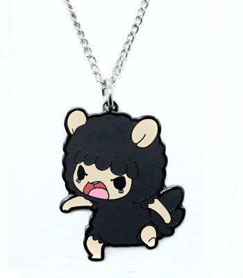 Grumpy Sheep Metal Necklace