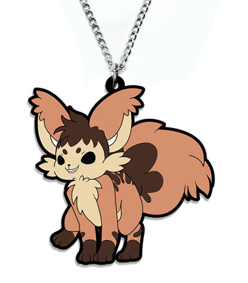 Marble Cake Fox Metal Necklace