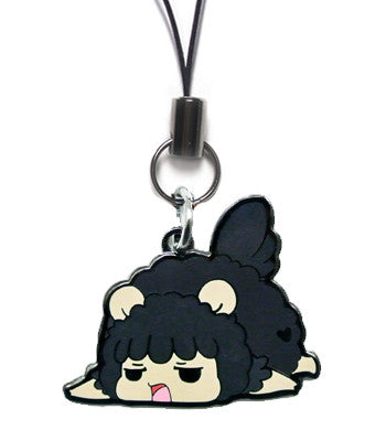 Grumpy Sheep Metal Charm