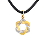 SILVER & GOLD STAR OF DAVID NECKLACE