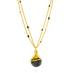 24K GOLD LEA NECKLACE