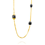 EVE 3 ELEMENTS 24K GOLD BAMBOO NECKLACE