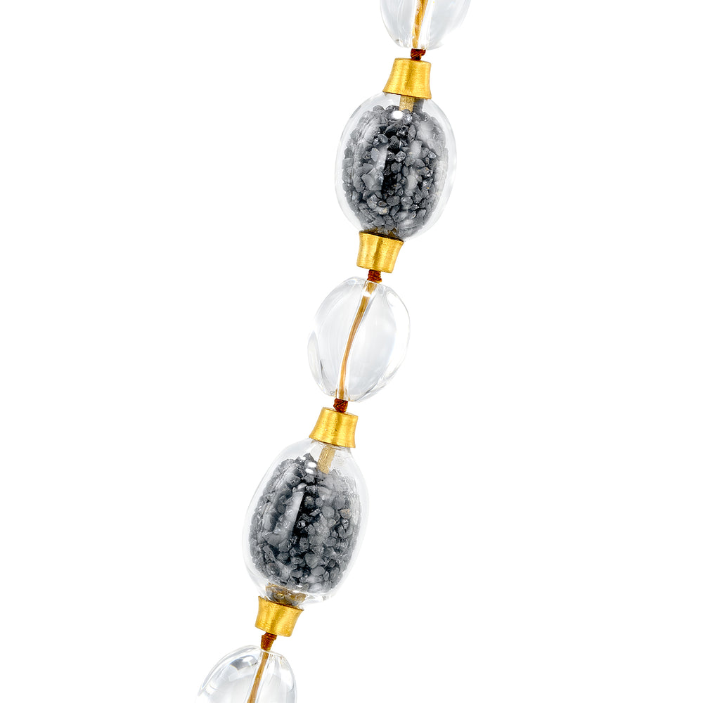 ELLA ILMENITE BEADS NECKLACE