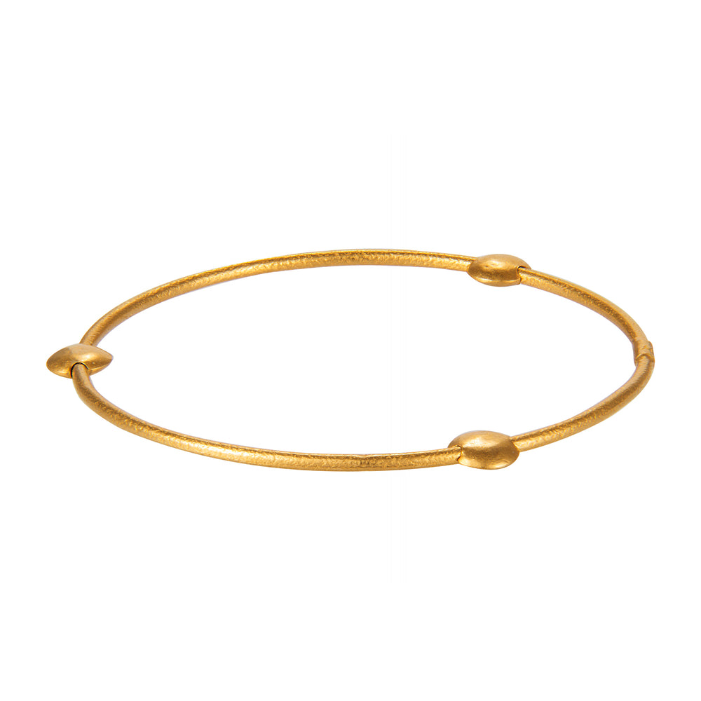 24K GOLD DISC JANE STACK BANGLE
