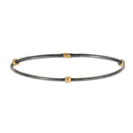 OXIDIZED GILVER & 24K GOLD JANE STACK BANGLE