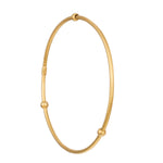 24K GOLD ROUND BEAD JANE STACK BANGLE