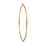 24K GOLD 3 DIAMONDS JANE STACK BANGLE