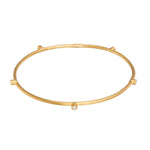 24K GOLD  5 DIAMONDS JANE STACK BANGLE 24k