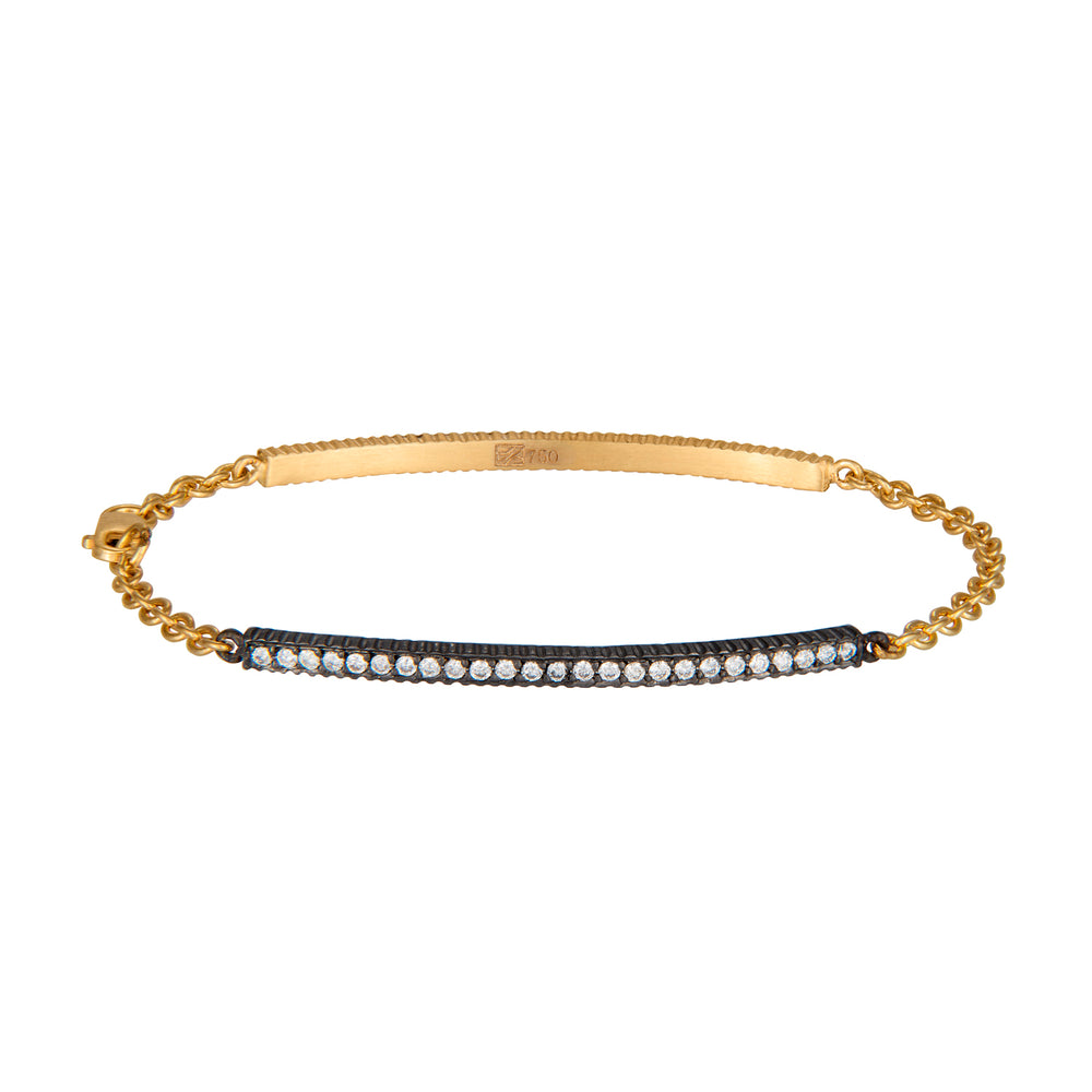 LILAH PAVE DIAMOND DOUBLE SIDED ID BRACELET
