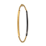 18K GOLD BLACK DIAMOND LILAH ID BRACELET