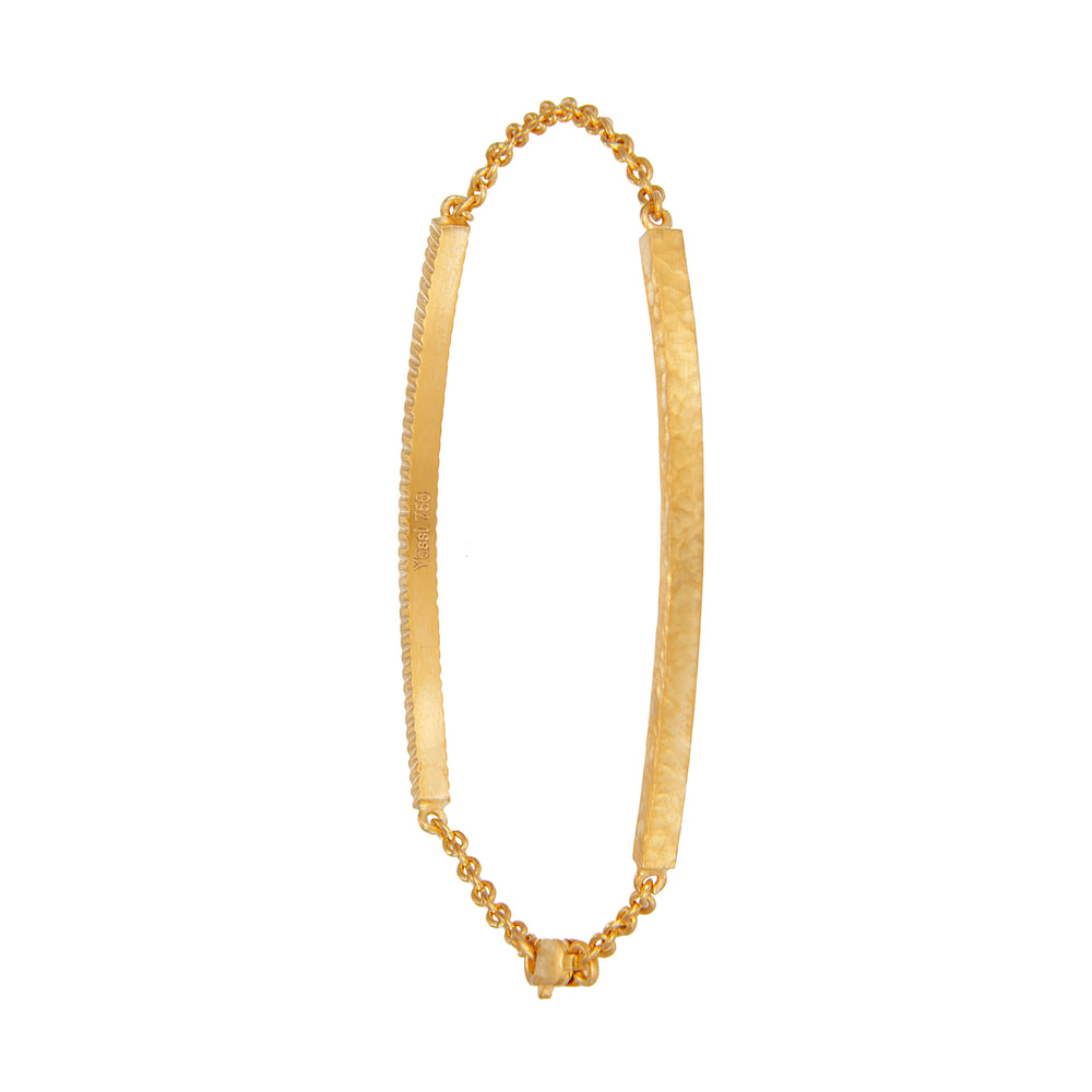18K GOLD DIAMOND LILAH ID BRACELET