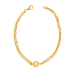 24K GOLD ROSE CUT DIAMOND MICA BRACELET