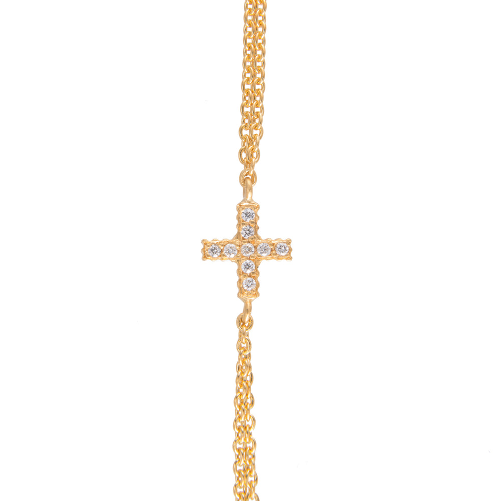 18K GOLD DIAMOND POSITIVE SIGN LILAH BRACELET