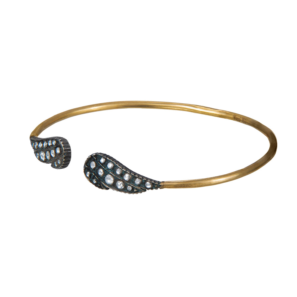 18K GOLD DIAMOND MOSAIC SARA WING CUFF