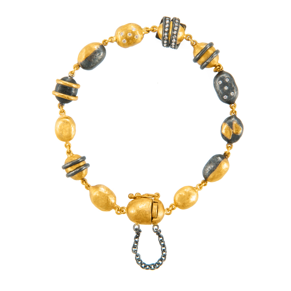 24K GOLD MINI BEAD HELEN BRACELET
