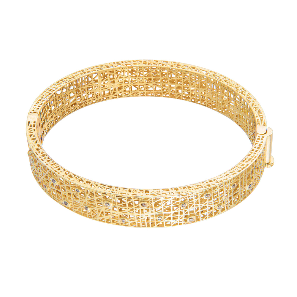 18K GOLD DIAMOND SMALL LACE CUFF