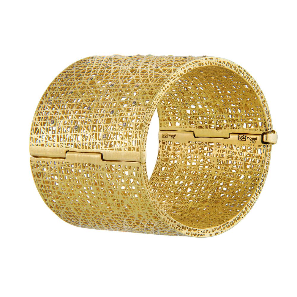 18K GOLD DIAMOND LARGE LACE CUFF