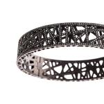 18K GOLD BLACK RHODIUM PAVE DIAMOND SMALL LACE CUFF