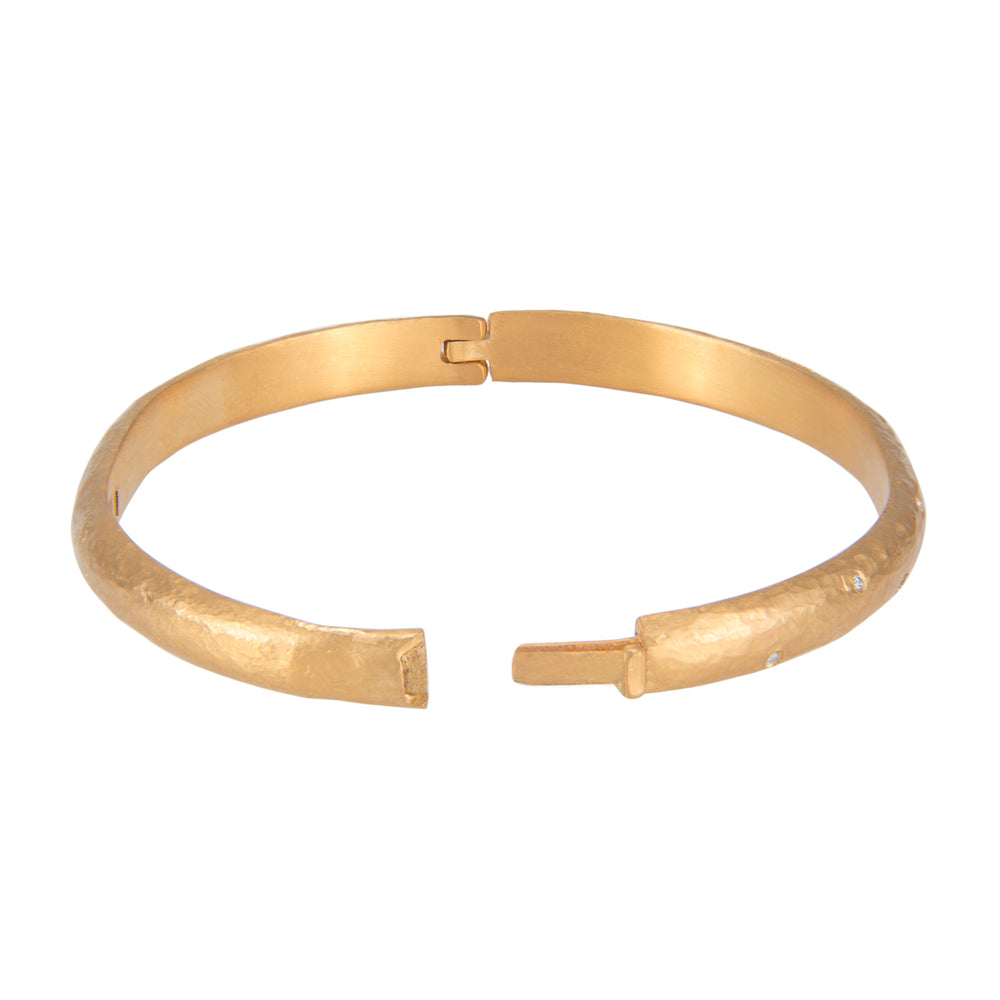 24K GOLD SPRINKLE DIAMOND MICA BANGLE
