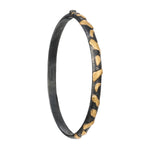 24K GOLD & OXIDIZED GILVER LIBRA BANGLE