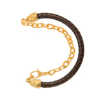 VERMEIL & LEATHER PUNTA GALERA MEDIUM SPACE BRACELET