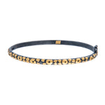 24K GOLD & OXIDIZED GILVER LEOPARD BANGLE