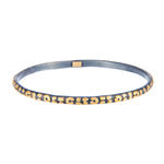 24K GOLD & OXIDIZED GILVER LEOPARD LIBRA BANGLE