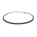 OXIDIZED GILVER 34 DIAMOND LILAH BANGLE