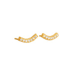 18K GOLD DIAMOND SMILE LILAH STUD EARRINGS