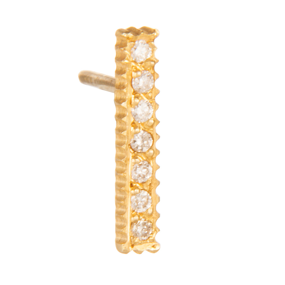 18K GOLD DIAMOND STICK LILAH STUD EARRINGS