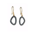 OXIDIZED GILVER DIAMOND OPENWORK MELISSA EARRINGS