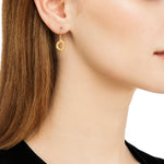 24K GOLD DIAMOND DIAMOND OPENWORK MELISSA EARRINGS