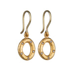 24K GOLD DIAMOND OPENWORK MELISSA EARRINGS