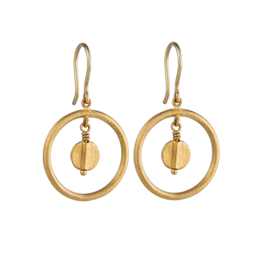 24K GOLD JANE LOOP EARRINGS