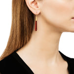 24K GOLD CARNELIAN JANE CONE EARRINGS