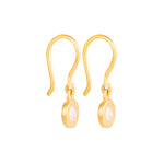 24K GOLD ROSE-CUT DIAMOND MICA EARRINGS