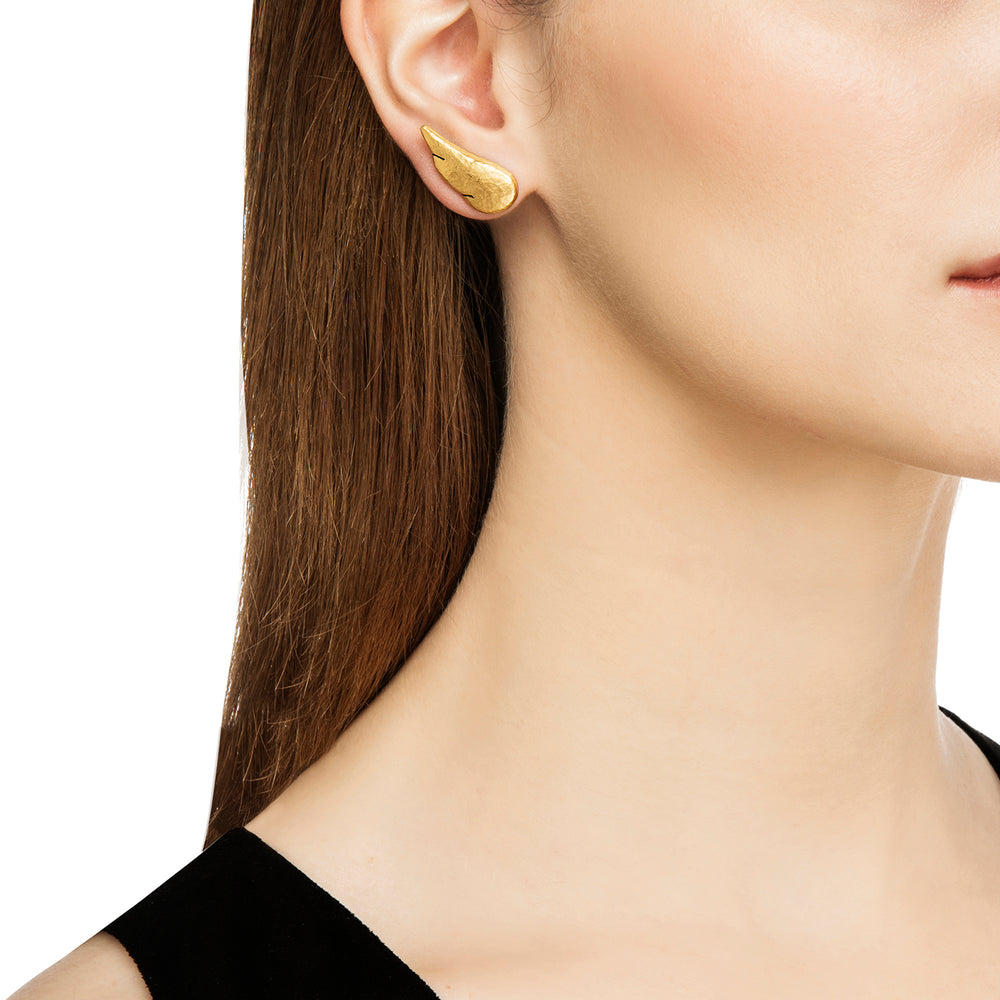 24K GOLD WING MICA EARRINGS