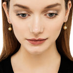 24K GOLD SOUTH SEA PEARL ROXANNE DROP EARRINGS