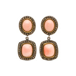 ELLA DROP CORAL & COGNAC DIAMONDS EARRINGS