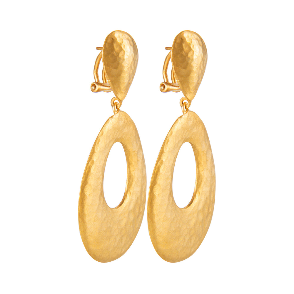 24K GOLD CHANDELIER ROXANNE EARRINGS
